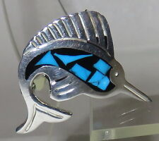 tm-294 mexico 925 small sailfish with inlay brooch