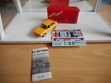 Handbuilt model Top 43 Renault 20 Paris Dakar 1982 in Yellow on 1:43 in Box