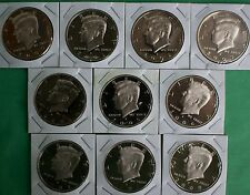 2000 thru 2009 S PROOF Kennedy Half Dollar Lot 10 Coins 50 Cents Collection