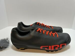 Giro VR90 Empire Bicycle Shoes Men's Size12 Vibram Sole Black/Red