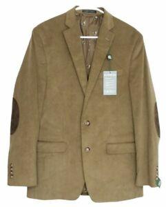 Lauren Ralph Lauren Mens Ultra Flex Corduroy Sport Coat Jacket 40 Long Camel NWT