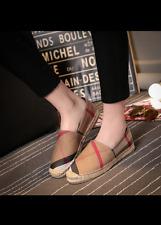 Women Hemp Espadrilles Canvas Ballet Flats Shoes Loafers Slip On Oxford Horsebi