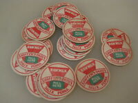 (20) Vintage Shaffers Dairy Raw Milk Bottle Caps Salix Pennsylvania B2353