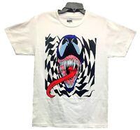Marvel Men's Venom Warp Checkerboard Graphic Licensed T-Shirt White New