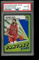 2018 Panini Donruss Optic Fantasy Stars Blue #1 Anthony Davis Lakers PSA 10 /85