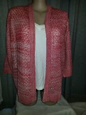 Mandarin TWIST pointelle cardi cardigan jumper XXL 20 22 long sleeve NEW