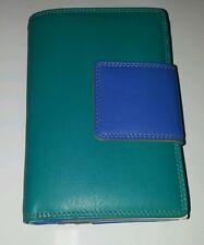 Gabee  ladies leather wallet multiple colours 55903plz Teal Medium