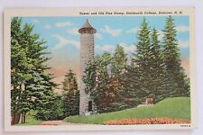 TOWER AND OLD PINE STUMP, DARTMOUTH COLLEGE, HANOVER, N.H., 1950