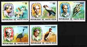 UPPER VOLTA 1975 - SET BIRDS / SCHWEITZER MNH