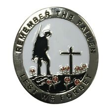 Poppy Day Lapel Badge with Soldier - Remember The Fallen - Remembrance Sunday