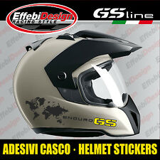 Adesivi Stickers helmet casco BMW GS 1200 R ADVENTURE ENDURO 30th panniers world