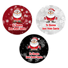 48 x Personalised Christmas Stickers Santa Father Christmas Present Labels - 928