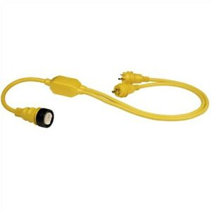 Marinco Ry504-2-30 50A Female To 2 30A Male Reverse Y Cable