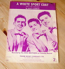 THE KING BROTHERS A White Sports Coat ORIGINAL UK SHEET MUSIC FROM THE 1950's