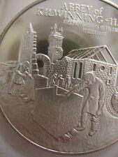 7/8- OZ KILWINNING ABBEY FREEMASON BROTHERHOOD MASONIC COIN SILVER.925 + GOLD