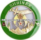 Z-72 Green Shriner Auto Emblem Temple Mason Masonic Car Mason Masonic FreeMason