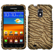 Samsung Galaxy S2 Epic 4G Touch D710 Sprint - BLING CASE COVER GOLD TIGER ZEBRA