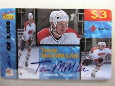 TAVIS MACMILLAN 1996 Autogramm Sport Eishockey Limitierte Telefonkarte Sprint