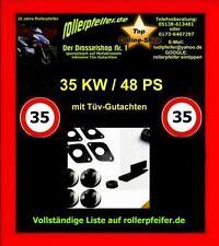 Drosselsatz / Drossel auf 35 KW 48 PS für Yamaha XJ600  Typ: RJ01