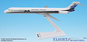 Flight Miniatures McDonnell Douglas Demo MD-80 1:200 Scale Display Model New
