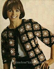 VINTAGE 1960s CROCHET PATTERN FOR A JACKET FROM CROCHET SQUARES - RETRO