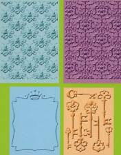 CUTTLEBUG embossing folders set of 4 SENTIMENTALS REDUCED