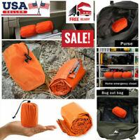 Waterproof Emergency Survival Sleeping Bag Blanket Stuff Sack 2 Pack Fast Ship
