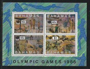 1988 Bahamas Scott #654a - Seoul Summer Olympic Games Souvenir Sheet - MNH