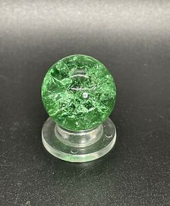 """Vitro Green Crackle Glass Marble Shooter Size Vintage Marble 0.709"""""""