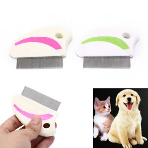 pets hair removal comb stainless steel lice comb lice flea nit hair com~ NP_fr