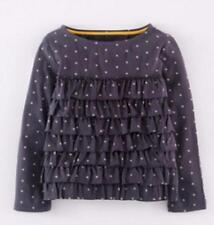 Girls' Ruffle Long Sleeve Sleeve Cotton T-Shirts & Tops (2-16 Years)