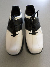 Callaway white and black leather, oxford golf shoes, Men's 9.5 M