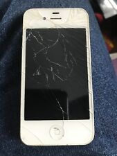 "APPLE IPHONE 4 ""AS IS"", BROKEN SCREEN,  PARTS ONLY, WHITE A1349"