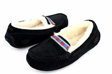 UGG Ansley Embroidery Fully Lined Slippers Black Color Size 10 US