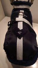 Wintermantel Hundemantel Mantel-Geschirr S und M dunkelblau Edelweiss