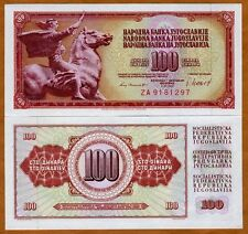 Yugoslavia, 100 Dinara, 1981, Pick 90, (90b), Unc > Za Replacement