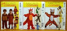 Lot 3 COSTUME Sewing PATTERN McCall's 5953 6181 & 6185 1/2-5T NEW I