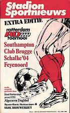 08./10.08.1980 Feyenord Rotterdam, FC Southampton, Schalke 04, Club Brugge K.V.