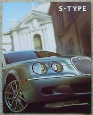 JAGUAR S TYPE Car LF Sales Brochure 2008 #JLM/10/02/06/08 4.2 V8 SUPERCHARGED