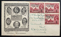 1940 Rangoon Burma India First Day cover To England Centenary Of Postage Stamp