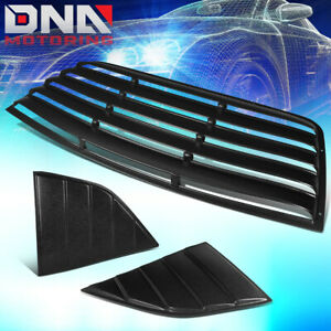 FOR 2008-2019 DODGE CHALLENGER REAR+QUARTER SIDE WINDOW LOUVER SUN SHADE COVER