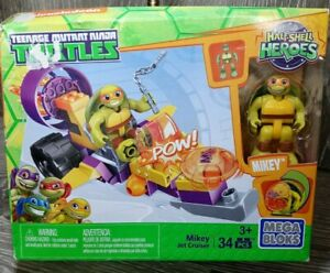 NEW Mega Bloks TMNT Half-Shell Heroes Mikey Jet Cruiser 34 pieces