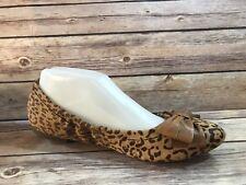 bafd7c55461832 BCBGeneration sz 8.5B Brown Leather LAUREL 2 BOW Front Ballet Flats Slip on  Shoe