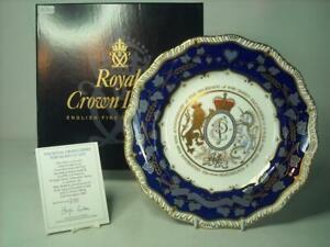 Royal Crown Derby QUEEN ELIZABETH PRINCE PHILIP Plate 50th Wedding Anniversary
