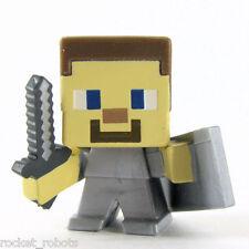 Minecraft Mini Figure Series 6 End Stone Series Loose Steve with Shield