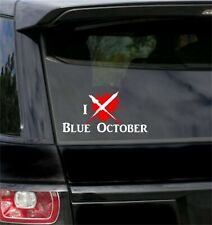 I LOVE BLUE OCTOBER vinyl sticker decal for car vehicle  FREE SHIPPING