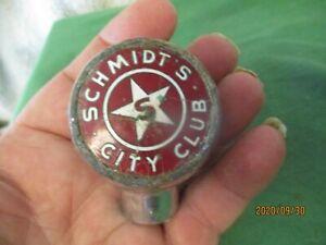 VINTAGE SCHMIDT'S CITY CLUB BEER BALL TAP KNOB SCHMIDT BREWING CO ST. PAUL MN
