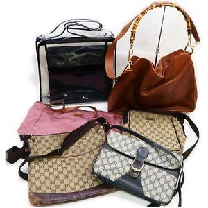 Gucci Leather PVC Canvas Nylon Vinyl Shoulder Bag Hand Bag 6pc set 519326