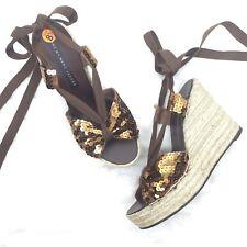 Womens Marc by Marc Jacobs Size 39 Sequins Wedge Platform Espadrilles Sandals