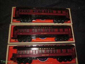 Lionel Strasburg Railroad Baby Madison Passenger 3 Car Set 6-35208, 209, 210 #SS